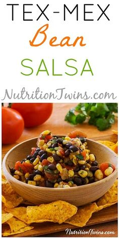 Tex Mex Bean Salsa | Super Healthy & Satisfying | Good Source of Fiber & Protein | Only 93 Calories | For MORE RECIPES, fitness & nutrition tips please SIGN UP for our FREE NEWSLETTER www.NutritionTwins.com
