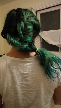 Seaweed Hair by moon_child, via Flickr #green and #teal #dyed #hair