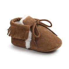 5649561fa25d2 Romirus Winter PU Outdoor suede Leather Baby moccasins Shoes infant  anti-slip first walker soft soled Newborn Baby boy Boots