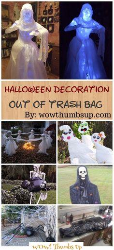 DIY Trash Bag Halloween Decoration Ideas Tutorials Halloween - halloween dance ideas