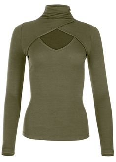 Order a sexy Burnt Orange Cut Out Mock Neck Top from VENUS. Shop short sleeve tops, tanks, tees, blouses and more at an affordable price today! Fashion Moda, Trendy Fashion, Love Fashion, Fashion Outfits, Star Wars Outfits, Dance Shirts, Casual Tops For Women, Ladies Tops, Evening Tops
