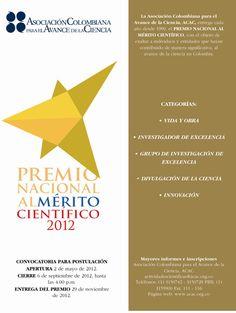 Hasta este 6 de septiembre se termina la convocatoria del Premio Nacional al Mérito Científico, convocado por la Asociación Colombiana para el Avance de la Ciencia (ACAC).