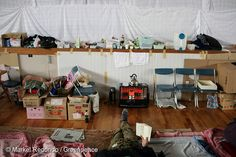 8 Apr, 2011 A family creates a makeshift home in an evacuation centre in Yonezawa, 100km from the stricken Fukushima Daiichi nuclear plant. Greenpeace is working in the area to monitor radioactive contamination of food and soil to estimate the health and safety risks for the local population.