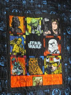 Back of star wars quilt