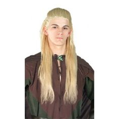 OFF - Lord Of Rings Legolas Wig : Long, dark blonde hair. A wig cap is a recommended pairing as it can control hair under wigs (especially longer hair)or spirit gum adhesive can be used to secure the wig to your head and remover used to easily r Halloween Wigs, Halloween Outfits, Halloween Costumes For Kids, Dark Blonde Hair, Blonde Wig, Legolas Costume, Shoulder Jewelry, Costume Rings, Costume Accessories