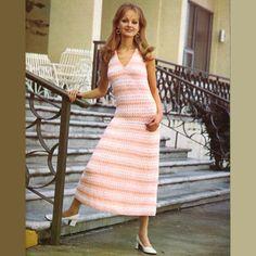 Vintage Knitted Pattern 241 PDF Romantic Dress