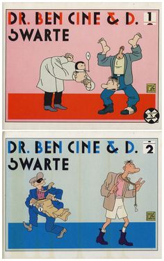 Joost Swarte - Dr. Ben Ciné & D. (Ed. Futuropolis 1986-1987) - 2 volumes in French (cartoons)