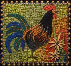 rooster mosaic by Amanda Gordon