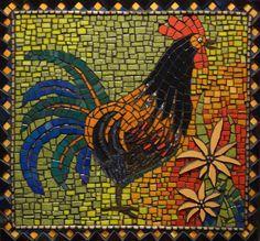 rooster mosaic by Amanda Gordon