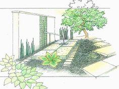 和風(モダン)坪庭デザイン|東京のお庭工事|スペースガーデニング