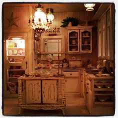 Beautiful night in my miniature dollhouse kitchen 1:12 scale