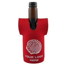 The Jersey Stubby Cooler ( without base ) has a  large area for your 1 colour printed promotional branding, message or logo customised onto the promotional product in prime viewing position maximising visual advertising potential