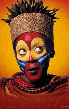 rafiki lion king face paint - Google Search