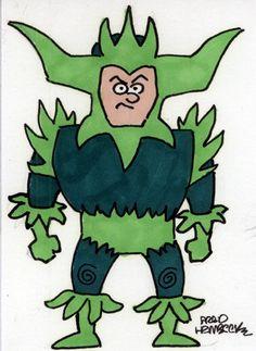 Fred-Hembeck-Color-Sketch-Card-Plantman-Marvel-villain-1-1