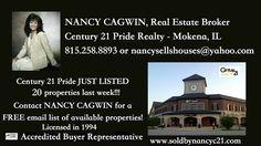 W/E 2-4-17 JUST LISTED at #Century21Pride Call Nancy Cagwin,  815-258-8893 www.soldbynancyc21.com