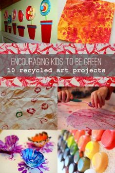 10 recycled art projects for kids to make! Great activities for Earth Day!