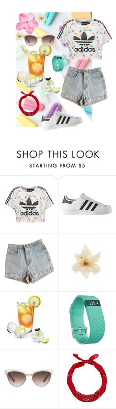 """""""Sporty Chic"""" by sugarplumfairy99 ❤ liked on Polyvore featuring adidas Originals, adidas, American Apparel, Clips, Prepara, Fitbit, Gucci and New Look"""