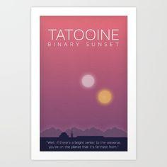 Star Wars Tatooine Art Print