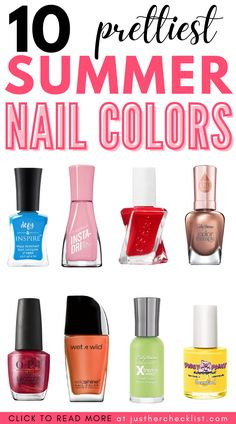 We're predicting these 10 juicy summer nail colors will be the most popular nail colors this summer. Click here for 10 of our favorite polish options. | summer nail colors | summer nail colors 2021 | best summer nail colors | Best Summer Nail Color, Summer Nails, Popular Nail Colors, Wet N Wild, Pretty, Inspiration, Summery Nails, Biblical Inspiration, Summer Nail Art