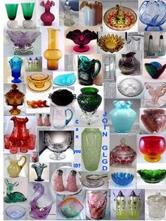 Glass Lovers Glass Database - Glassware Identification Resource - Pattern Index, Glass Companies, Marks -