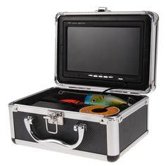 "30M Professional Fish Finder Underwater Fishing Video Camera 7"" Color HD Monitor Night-vision 1000TVL HD CAM W/Sunvisor #Affiliate"