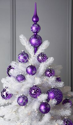 1000 ideas about purple christmas decorations on - White and purple decorations ...
