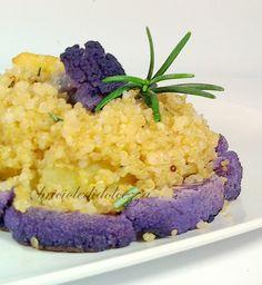 Cavolfiore viola e patate al forno