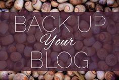 Back Up Your Blog!