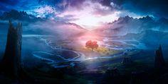 Roberto Oleotto painting: Our las tree