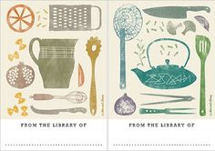 bookplates from Mac and Ninny http://www.macandninny.com/love-books #stationery #books #kitchenware #design