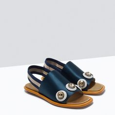 FLAT JEWELLED SANDALS-Flat sandals-Shoes-WOMAN | ZARA United States