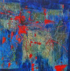 "Kathy Elliott Art Sleep Deprivation, 12""x12"", oil and wax on panel Day 11"