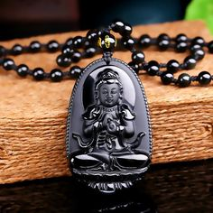 High Quality Unique Natural Black Obsidian Carved Buddha Lucky Amulet Pendant Necklace For Women Men pendants Jade Jewelry Jade Jewelry, Pendant Jewelry, Mens Pendant Necklace, Necklace Chain, Jewlery, Chakra Armband, The Gift Of Prophecy, Obsidian Stone, Sri Yantra