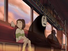 Public transport and being in transit is a big theme in my dreams. The feeling of life being temporarily suspended whilst travelling, being thrown together with the other passengers by chance. I usually have a companion in these dreams, most often my long dead paternal grandmother. The train scenes in Spirited Away capture this perfectly.