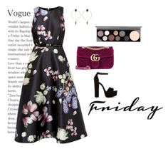 """""""Romantic Friday"""" by maria-mark on Polyvore featuring Gucci, Isabel Marant, Ted Baker, Steve Madden and MAC Cosmetics"""