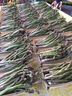 Homegrown Asparagus @MplsFarmMarket  earliest se've seen it in five years #fresh #local