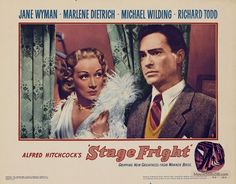 Stage Fright - Lobby card with Marlene Dietrich & Richard Todd