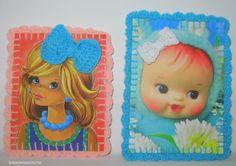 My grandma and aunts use to make crafts with those cute little baby faces! ietsiepietsiekitschie: gestrikt !