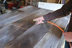 DIY: Barnwood Headboard by 508 Restoration & Design, via Flickr