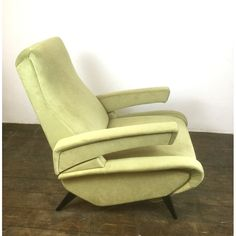Reclining Lounge chair with adjustable arms edited by ERTON circa 1950 France