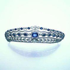 A belle époque sapphire and diamond tiara, £35,000 - 45,000 AUCTION 10932: FINE JEWELLERY 9 Dec 2004 11:00 GMT LONDON, NEW BOND STREET