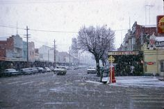 Dean Street Albury NSW, Snow, July 15th. 1966