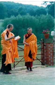Young Geshe Kelsang Gyatso and Gen Kelsang Khyenrab.