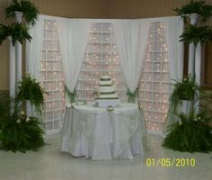 Reception, Flowers & Decor, Cakes, green, cake, Decorations, Backdrop