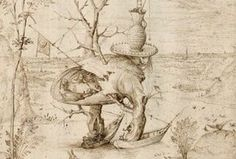 Hieronymus Bosch, der Baummensch, um 1500 © Albertina, Wien (Ausschnitt) Hieronymus Bosch, Surreal Art, Surrealism, The Past, The Incredibles, Drawings, Pose, Landscape, Sketches