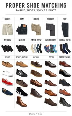Guide To Matching Pants, Socks and Shoes