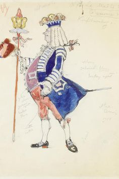 Alexandre Benois (Russian, 1870-1960) Costume design for the Nutcracker - Maitre de Ceremonies