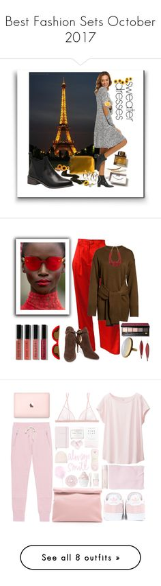 """""""Best Fashion Sets October 2017"""" by crystalglowdesign ❤ liked on Polyvore featuring The Row, Burberry, ESCADA, J.O.A., Bobbi Brown Cosmetics, PAWAKA, Jimmy Choo, M&Co, Mark Davis and topsets"""