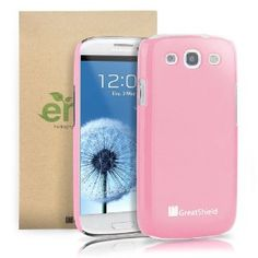 Amazon.com: GreatShield Guardian UV Glossy Series Slim Fit Snap On Hard Protector Case for Samsung Galaxy S3 S III - Pink: Cell Phones & Accessories