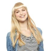 Revlon Clip on Fringe Clip In Fringe  Clip Lock Bangz Transform your look in seconds with a clip in fringe! A fringe without the committment, constant trimming and growing out time! Full Fringe that attach securely with snap clips to your own hair.